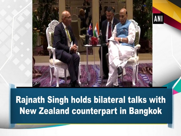 Rajnath Singh holds bilateral talks with New Zealand counterpart in Bangkok