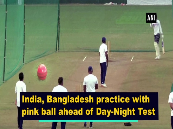 India, Bangladesh practice with pink ball ahead of Day-Night Test