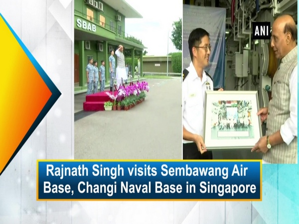 Rajnath Singh visits Sembawang Air Base, Changi Naval Base in Singapore