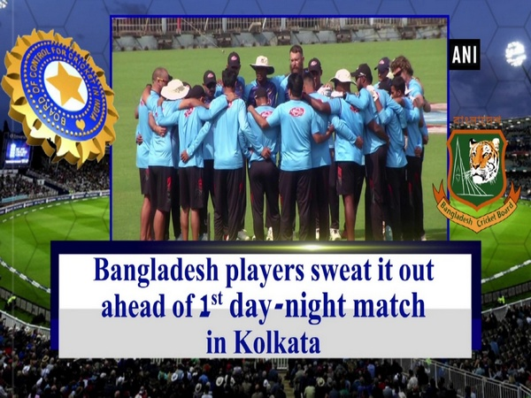 Bangladesh players sweat it out ahead of 1st day-night match in Kolkata
