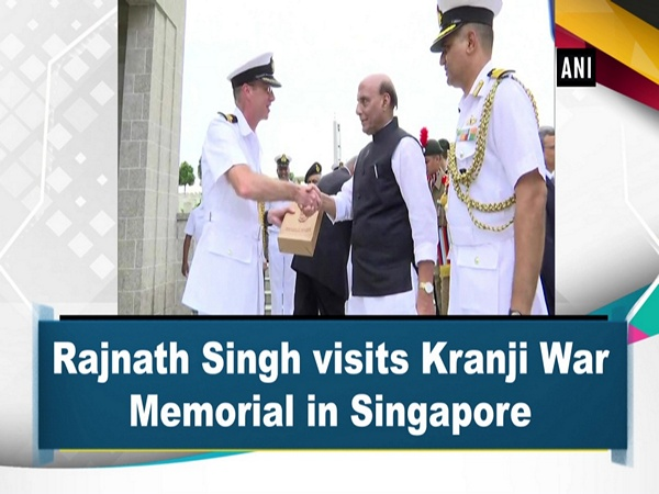 Rajnath Singh visits Kranji War Memorial in Singapore