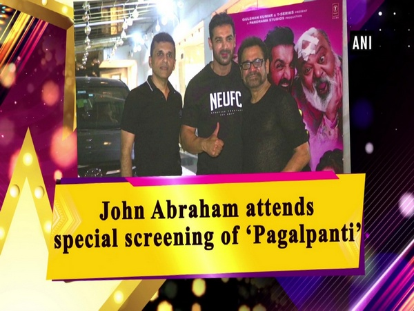 John Abraham attends special screening of 'Pagalpanti'