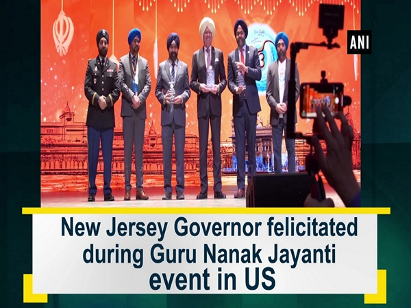 New Jersey Governor felicitated during Guru Nanak Jayanti event in US