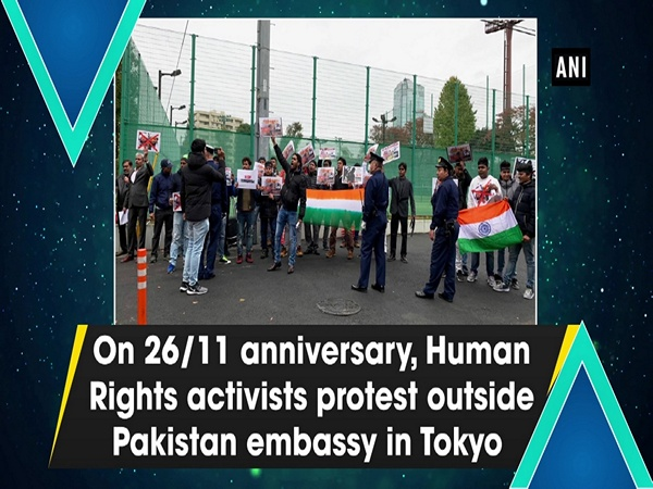 On 26/11 anniversary, Human Rights activists protest outside Pakistan embassy in Tokyo