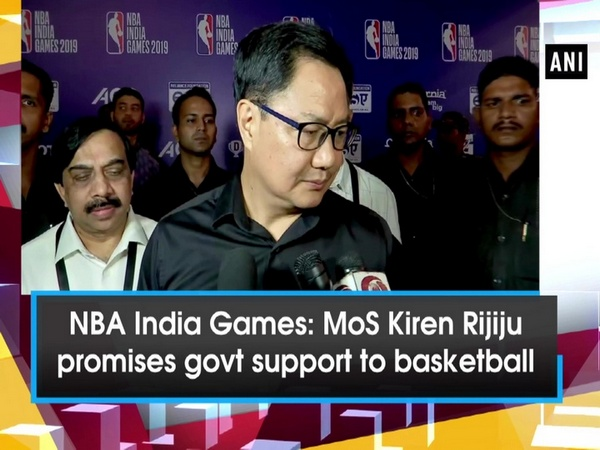 NBA India Games: MoS Kiren Rijiju promises govt support to basketball in India