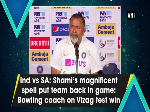 Ind vs SA: Shami's magnificent spell put team back in game: Bowling coach on Vizag test win