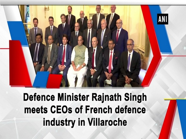 Defence Minister Rajnath Singh meets CEOs of French defence industry in Villaroche