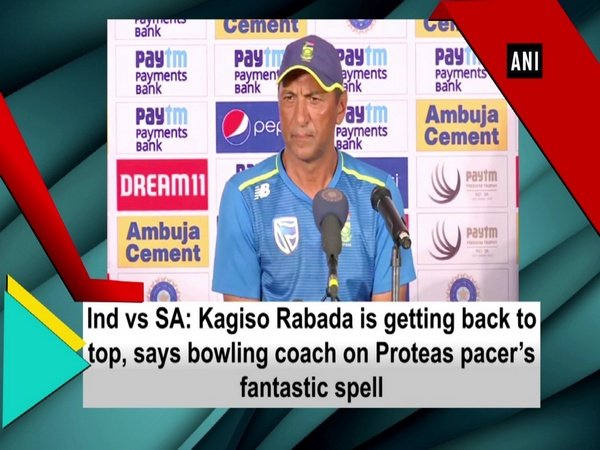 Ind vs SA: Kagiso Rabada is getting back to top, says bowling coach on Proteas pacer's fantastic spell