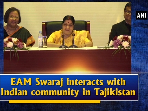 EAM Swaraj interacts with Indian community in Tajikistan