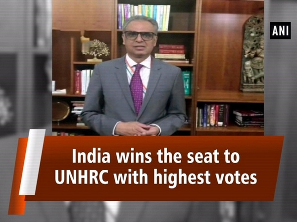India wins the seat to UNHRC with highest votes