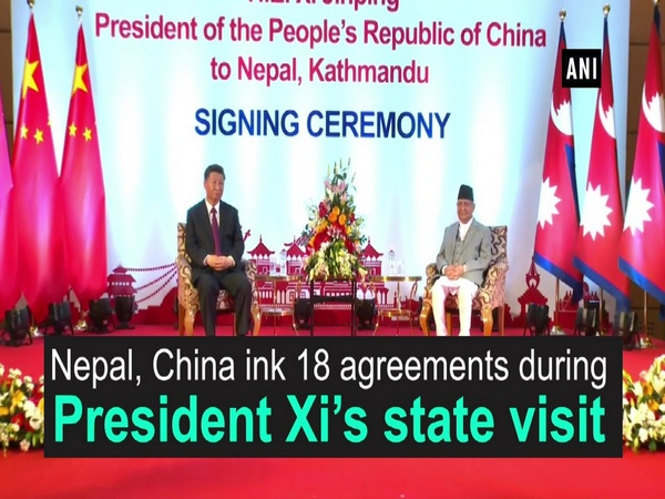 Nepal, China ink 18 agreements during President Xi's state visit