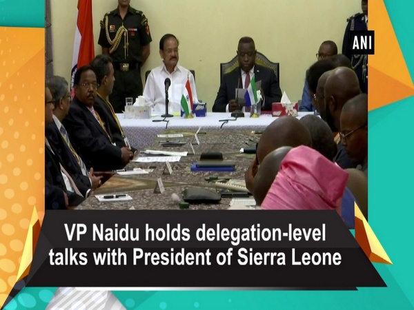 VP Naidu holds delegation-level talks with President of Sierra Leone