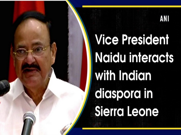 Vice President Naidu interacts with Indian diaspora in Sierra Leone