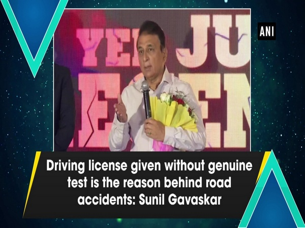 Driving license given without genuine test is the reason behind road accidents: Sunil Gavaskar