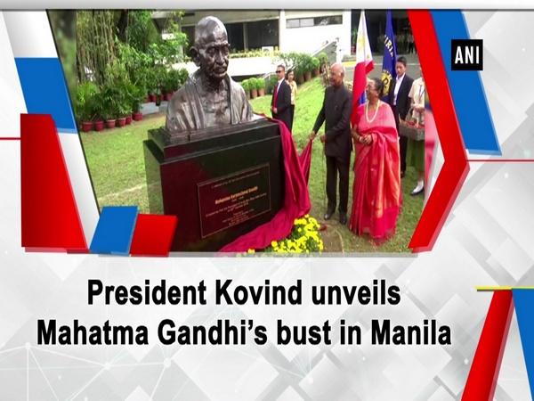 President Kovind unveils Mahatma Gandhi's bust in Manila