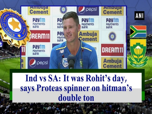 Ind vs SA:  It was Rohit's day, says Proteas spinner on hitman's double ton