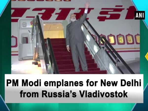 PM Modi emplanes for New Delhi from Russia's Vladivostok