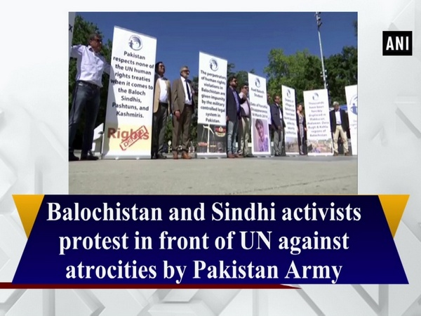 Balochistan and Sindhi activists protest in front of UN against atrocities by Pakistan Army