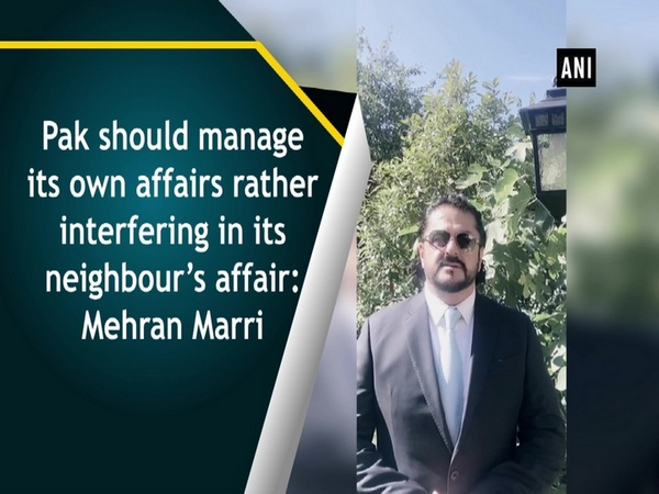 Pak should manage its own affairs rather interfering in its neighbour's affair: Mehran Marri