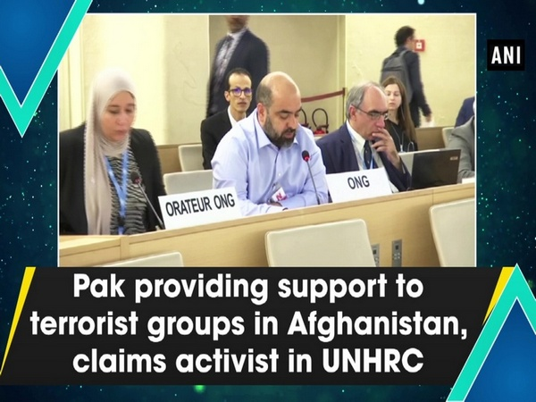 Pak providing support to terrorist groups in Afghanistan, claims activist in UNHRC