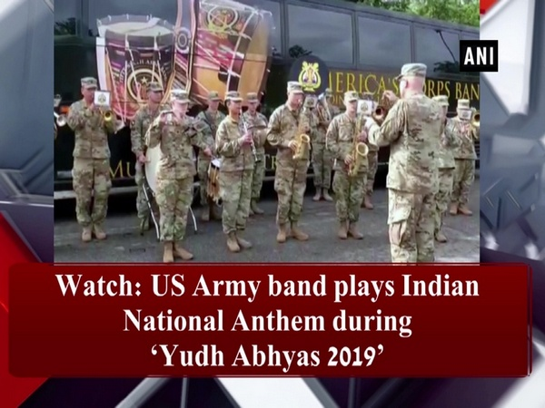 Watch: US Army band plays Indian National Anthem during 'Yudh Abhyas 2019'