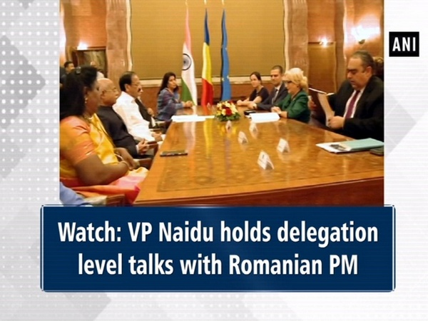 Watch: VP Naidu holds delegation level talks with Romanian PM
