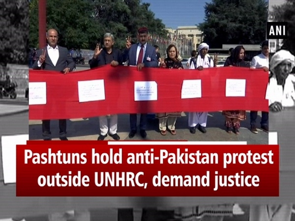Pashtuns hold anti-Pakistan protest outside UNHRC, demand justice