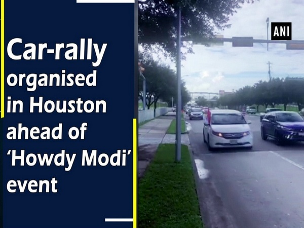 Car-rally organised in Houston ahead of 'Howdy Modi' event