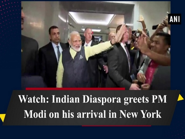 Watch: Indian Diaspora greets PM Modi on his arrival in New York