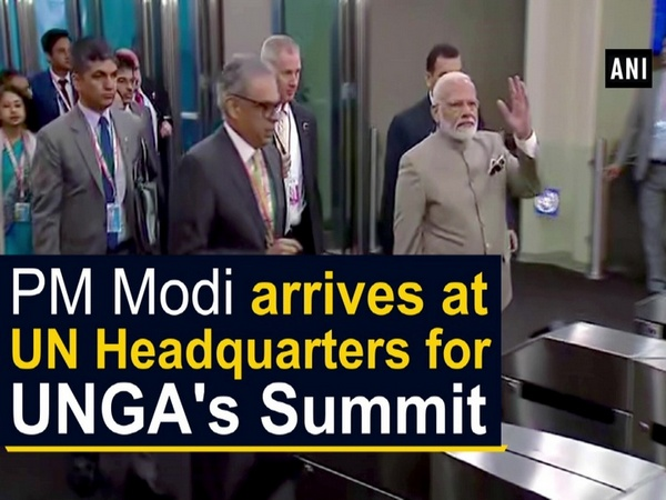 PM Modi arrives at UN Headquarters for UNGA's Summit