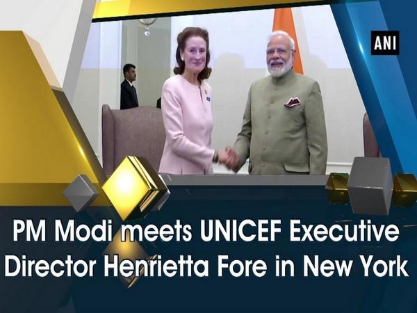 PM Modi meets UNICEF Executive Director Henrietta Fore in New York