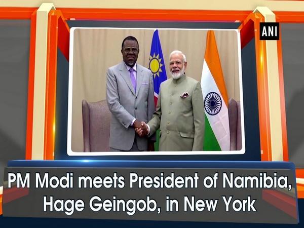 PM Modi meets President of Namibia, Hage Geingob, in New York