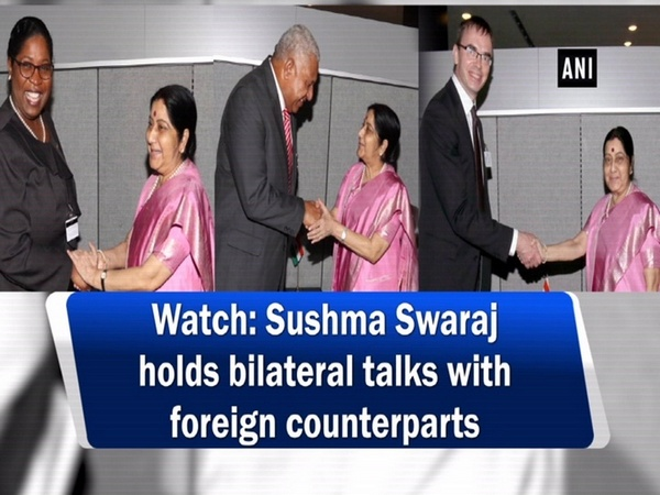 Watch: Sushma Swaraj holds bilateral talks with foreign counterparts