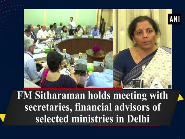 FM Sitharaman holds meeting with secretaries, financial advisors of selected ministries in Delhi