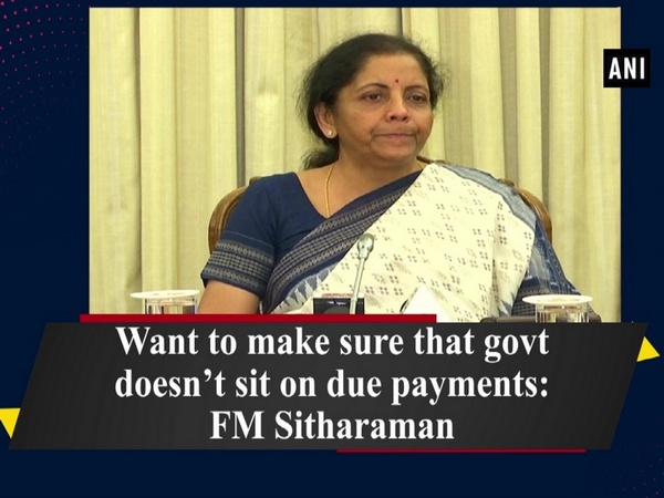 Want to make sure that govt doesn't sit on due payments: FM Sitharaman