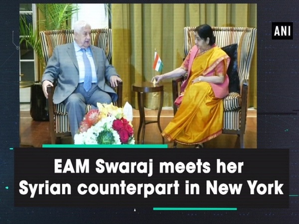 EAM Swaraj meets her Syrian counterpart in New York