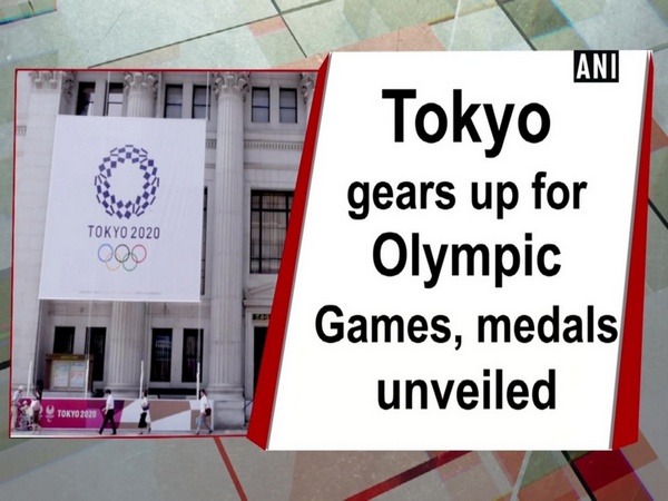Tokyo gears up for Olympic Games, medals unveiled